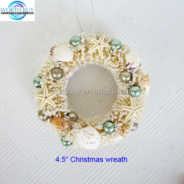 "4.5"" Sea star decorated wholesale artificial indoor Christmas wreath"