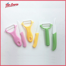 2 PCS/Set Candy Color Kitchen Accessories Peeler And Ceramic Knife Set For Fruit Vegtable Meat