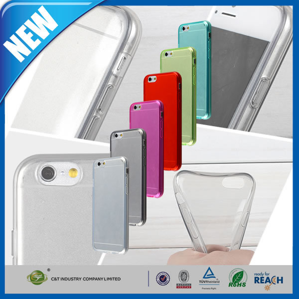 C&T Soft TPU Cellphone Case Flexible Clear Matte Transparent Cover Case for iphone 6/6s