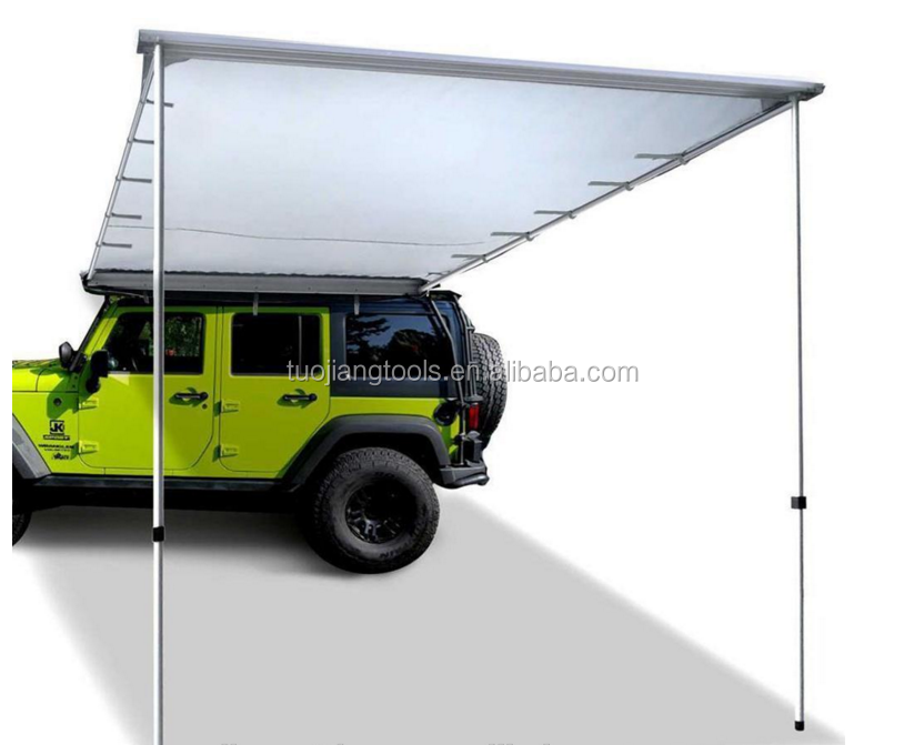 High Quality 2x2.5M SUV/4x4/4wd Waterproof Fire Retardant Car Roof Top Tents with Retractable car/Roof Side Awnings
