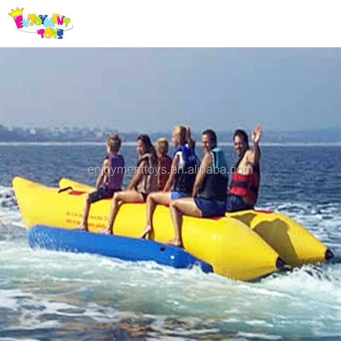 Crazy pvc big banana boat for sale/uesd inflatable banana pool float EBB-35