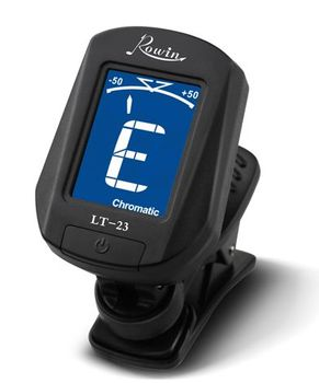 clip digital Guitar Tuner Rowin LT23 with wholesale price built-in piezo sensor