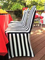 New Banquet chair cover,Stripe black and white, Zembra style,printed, , from factory