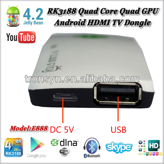 Mini PC quad core android 4.2 smart tv box