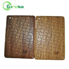 New products 2014 genuine wooden cases tablets for IPad mini