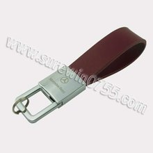 New leather Type key chain ring exhibition giveaway promotional item