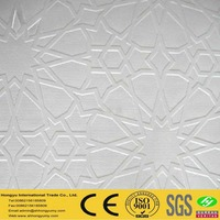 fireproof pvc laminated gypsum 3d wall panels decoration board