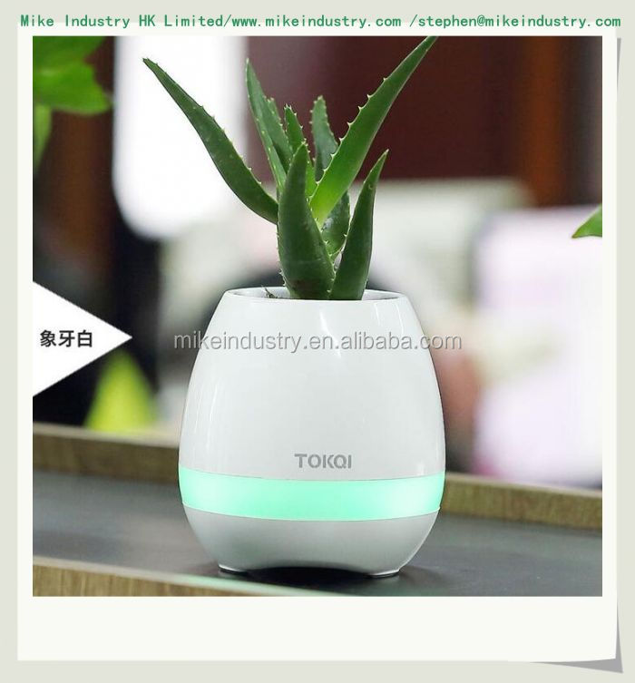 Rechargeable Led Light Smart Music Bluetooth Speaker Flower Pot for Kids Stress Relief Toy