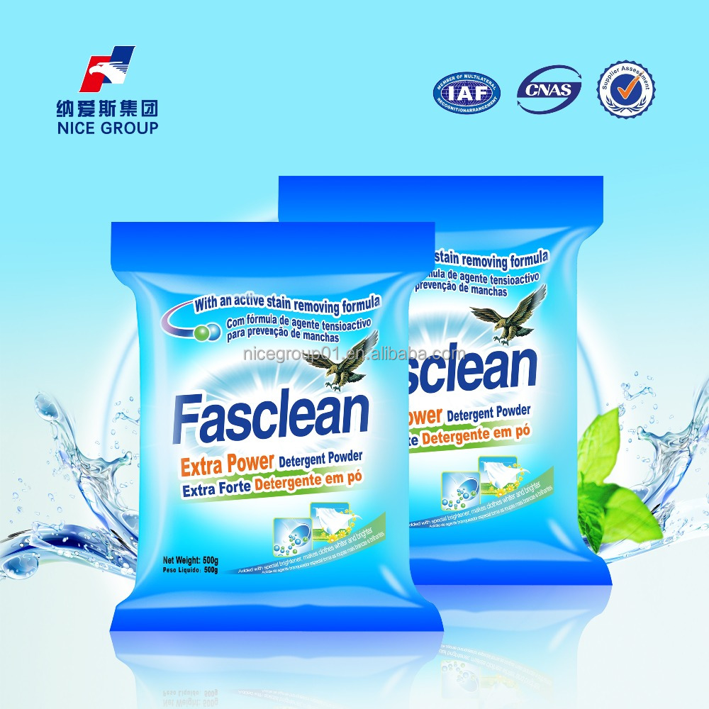 500g Hot Sale High Quality Fasclean Extra Power Detergent Powder