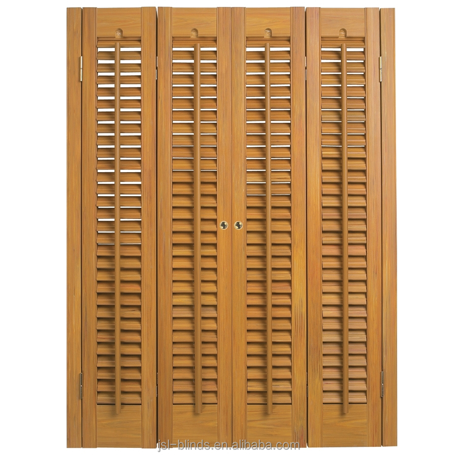 Ready Made Wooden plantation shutter/window shutters with cheap price