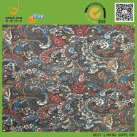 190T Taffeta Retro Style print fabric for russian market