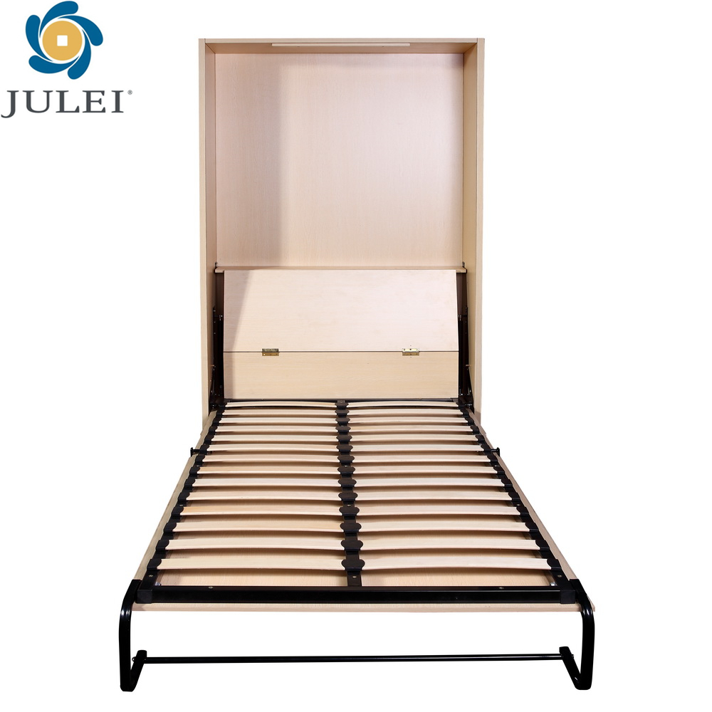 fashional wooden space saving home furniture JL-WD06 vertical wall mounted bed