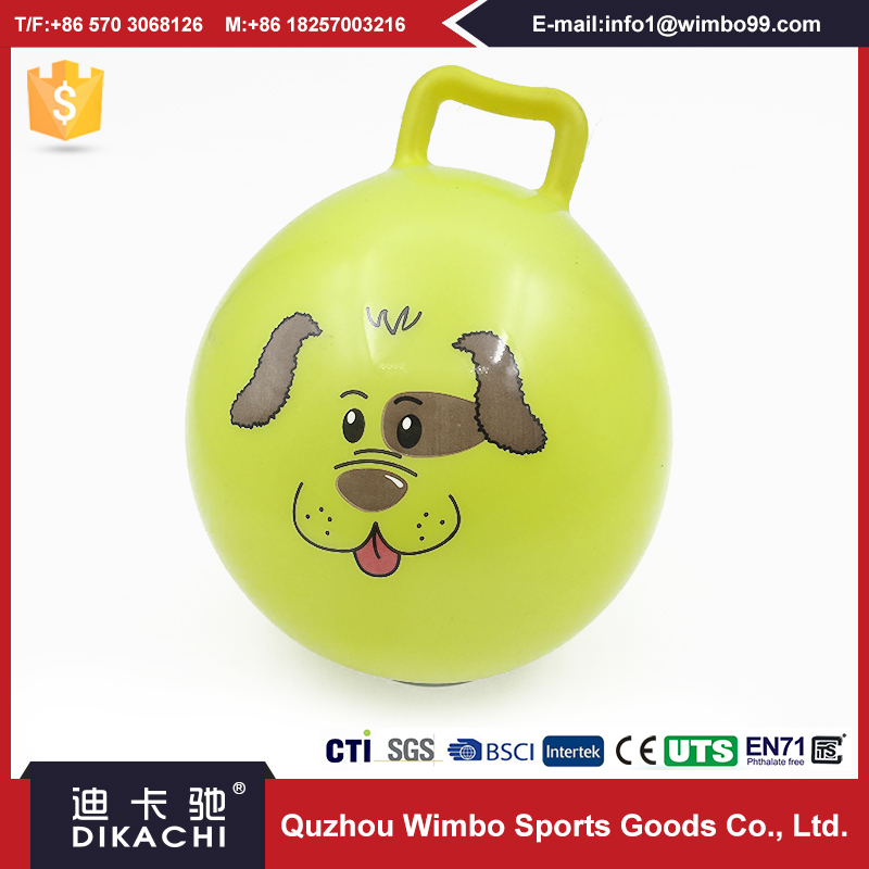 Latest Design Personalized Jumping Handle Inflated Pvc Ball For Kids Toys
