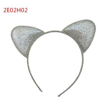 High quality handmade cute silver ears hair bands for girls christmas gift