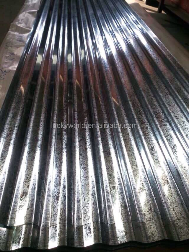 0.14 galvanized zinc coated corrugated metal steel roofing sheets