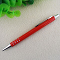 Fashion stylus roller ball pen slim red metal pen