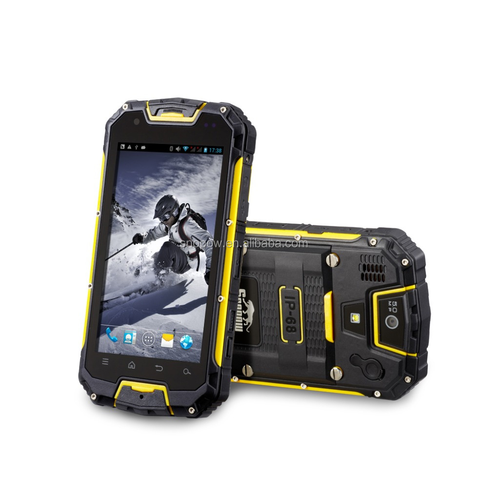 Snopow M8C IP68 waterproof 4.5 inches dual core 1G ram 8G rom agm rock v5 3g waterproof android phone