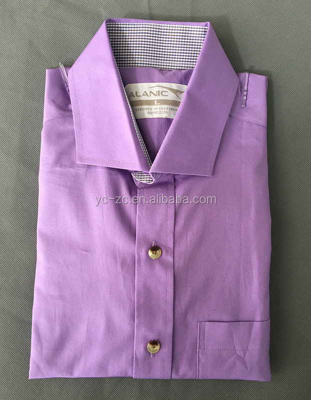 Colorful cotton/polyester men's shirt slim fit mens business shirts