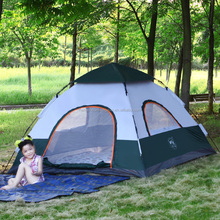 Hot Sale Pop Up Double Layer 4 Person Waterproof Family Camping Tent, TXZ-0061 Pop Up Family Tent,3~4 Person Pop up tent