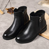 Fashion Comfortable Waterproof Woman Leather Boot