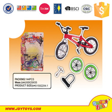plastic mini interesting finger bicycle and skateboard toy