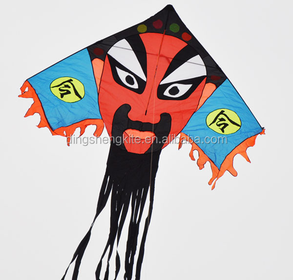 nylon fabric Chinese opera mask kite traditional face kite