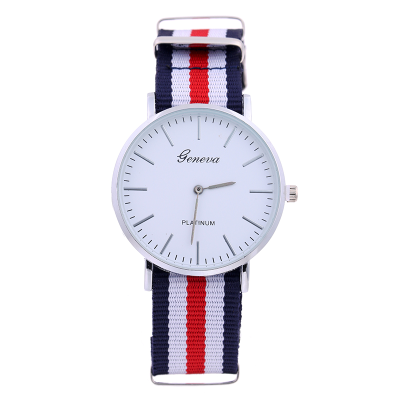 4509 Women Luxury Brand Geneva Ladies Wristwatch Gifts Girl Nylon Strap Dress Quartz Simple Dial design your own wrist watch
