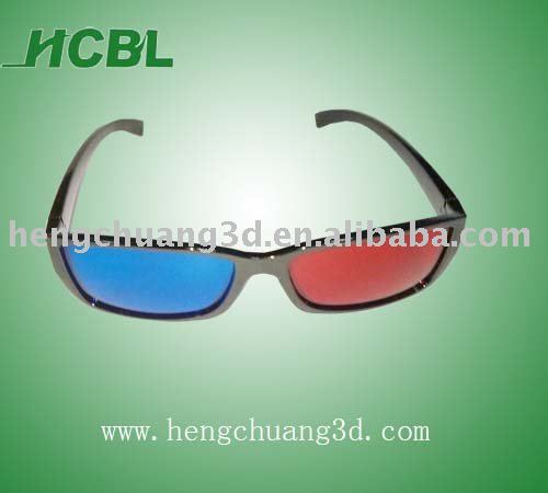 0.72 mm lens comfortable red and blue 3d tv glasses