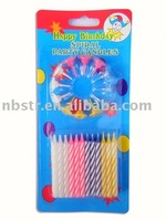 Hot sale Machine making colored Spiral candle,different type withe colored holders