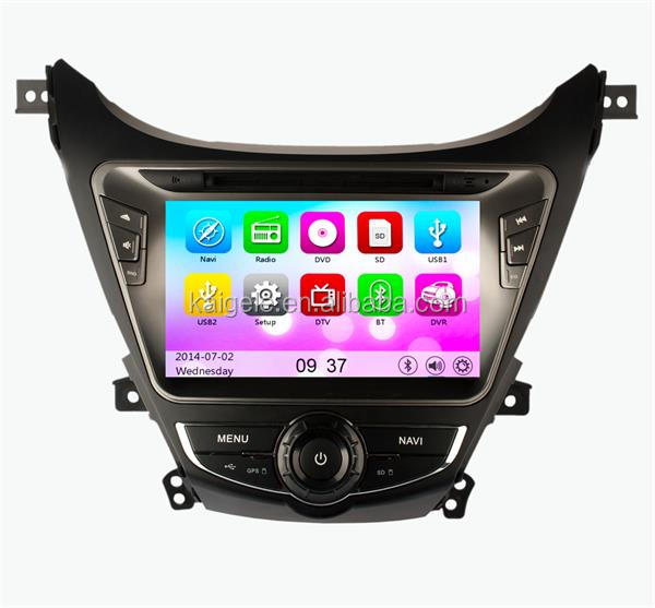 "8"" Double Din Bluetooth Car radio for Hyundai Elantra 2012 with bluetooth car radio navigation system gps maps"