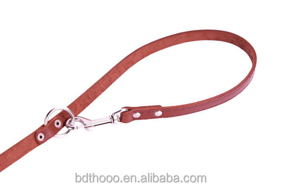 wholesale most popular manufacturer Brown Leather Dog Leash Adjustable Multi Functional European Lead 4 to 6 feet long