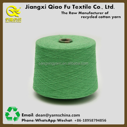 China manufacturer of recycled cotton blended yarn for socks yarn