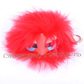 CX-R-48F New Arrival Fashion Fur Bag Charm Raccoon Fur Pom Keychain