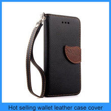 For apple iphone 6 iphone 6 plus case fashion flip wallet leather cover black