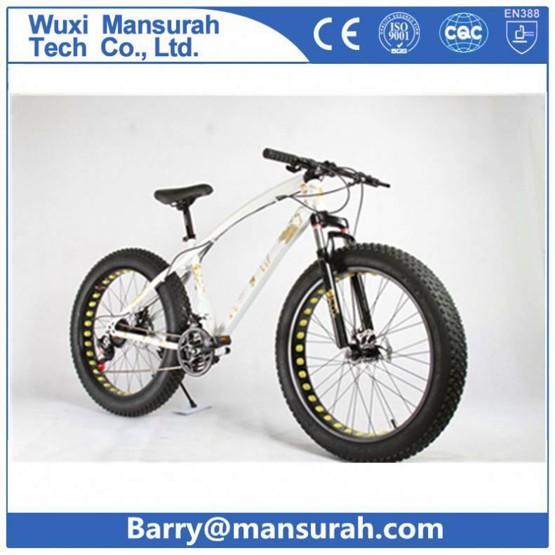 "Wide tire beach cruiser 26"" snow bicycle, fat bike mtb with suspension"