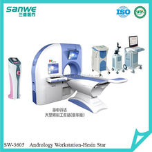Andrology machine for male sexual dysfunction diagnostic and therapy machine