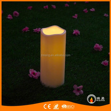 Top Sale Big Light Waterproof Battery Operated Flickering 3D Plastic LED Candles