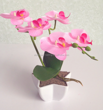 Best Selling Soft Touch Artificial moth orchid Silk Flower For indoor Decoration