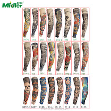 Midler Fake Temporary Body Arm Stockings Tattoo Sleeves