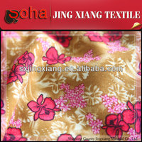 Keqiao fabric manufacturer Competitive price Fashion Flor de tela patron fabric