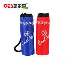 2017 Hot selling waterproof bottle cooler zip bags barrel shape customized logo handle round beer ice bag