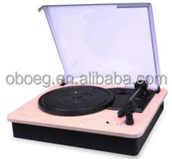 Hot selling Classical Style USB/ SD Vinyl Turntable Record player