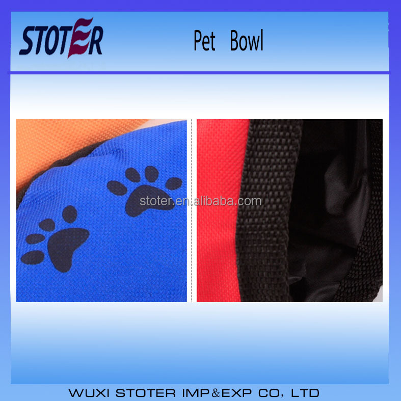 Folding oxford fabric water Dog Travel Bowls with any color