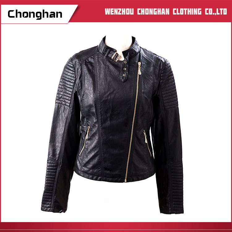 Chonghan Alibaba Hot Selling Custom Designs Lady Leather Jackets