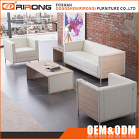 European style living room furniture new model white wooden and leather office sofa set pictures