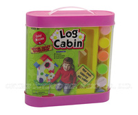 Wooden log cabin,wooden toy for kids,small house toy