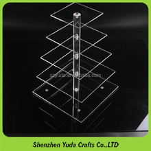 wholesale crystal 5 tier acrylic lucite cupcake display stand snack display