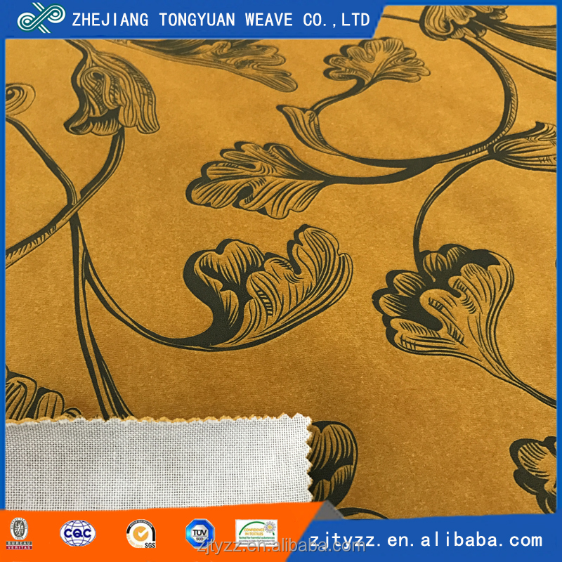 china factory supply polyester warp knitting embossed stretch velvet fabric