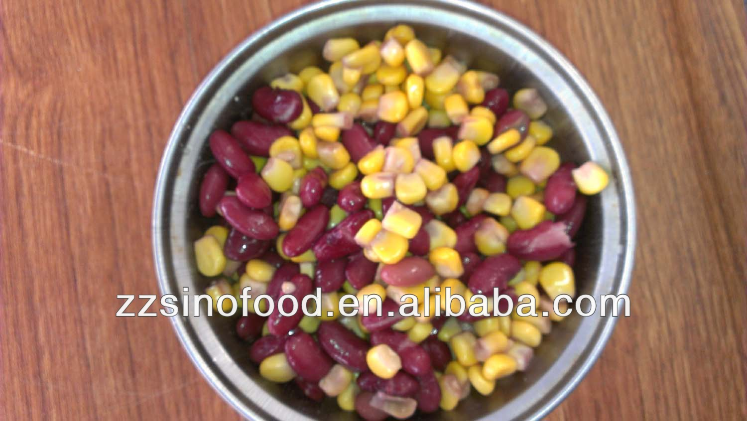 Tins Canned Mixed Red Kidney Beans and Sweet Corn in Brine