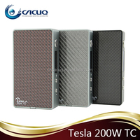 Sub mod kit Tesla 200w TC with ecig rechargeable battery big vapor e cigarette watt box mod with wholesale price